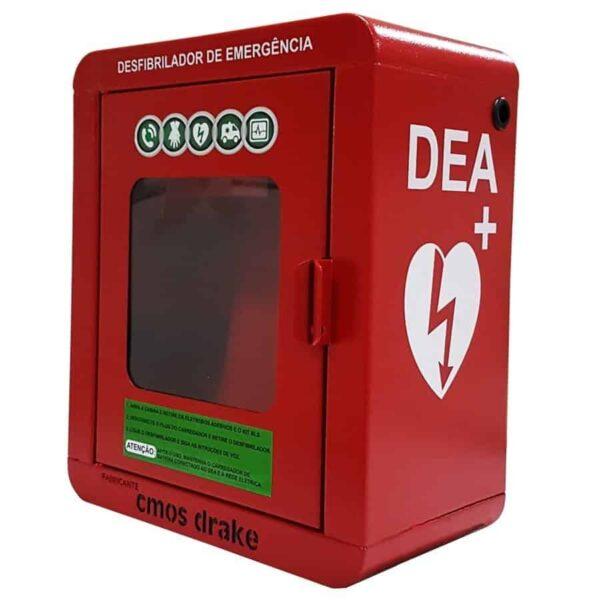 cabine de emergência para desfibrilador