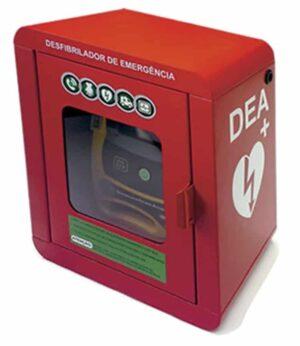 cabine vermelha desfibrilador